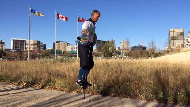 Markus Pukonen is raising awareness about the environment. He's also raising money for hundreds of non-profit organizations. On Sunday he made a stop in Winnipeg.