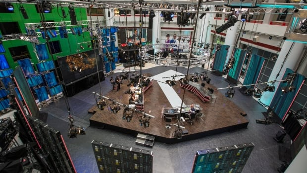 A look at the CBC News election night set in the Barbara Frum Atrium at the CBC Broadcast Centre in Toronto. Our live election night special hosted by Peter Mansbridge begins at 6:30 p.m. ET on CBC-TV, CBC News Network and CBCnews.ca and on CBC Radio One.