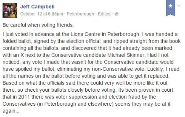 Jeff Campbell Facebook post