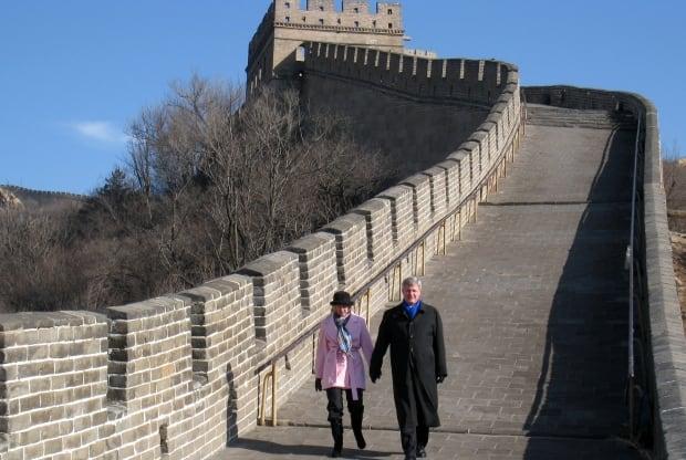 Stephen Harper Laureen Harper Great Wall of China