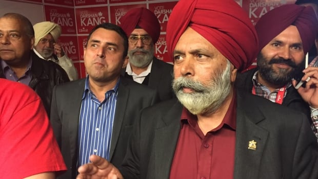 Darshan Kang, seen here on election night in 2015, has been accused of sexual harassment.