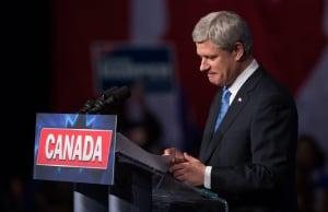 Harper podium