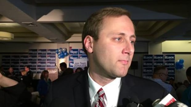 Conservative MP Brad Trost's leadership campaign has been fined $50,000 by the party over allegations it shared the party's membership list with the National Firearm Association. The Trost campaign denies the leak came from its staff.