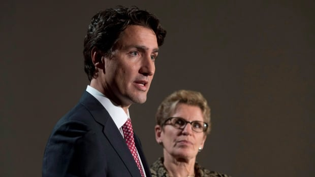 Liberal leader Justin Trudeau, left and Ontario Premier Kathleen Wynne campaigned together during the federal election.