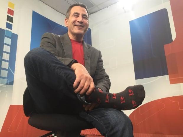 Hunter Tootoo and lucky socks