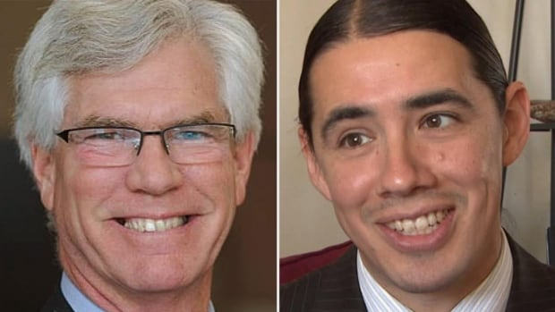 Jim Carr (left) defeated Conservative incumbent Joyce Bateman by more than 17,000 votes in the Winnipeg South Centre riding while Robert-Falcon Ouellette defeated longtime NDP MP Pat Martin by 8,981 votes.