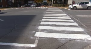 Freshly painted streets
