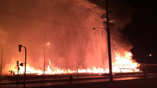 The flames from the fire at this Waverley Street condominium construction project were so intense in October 2015 that many homes in the area were evacuated as a precaution.