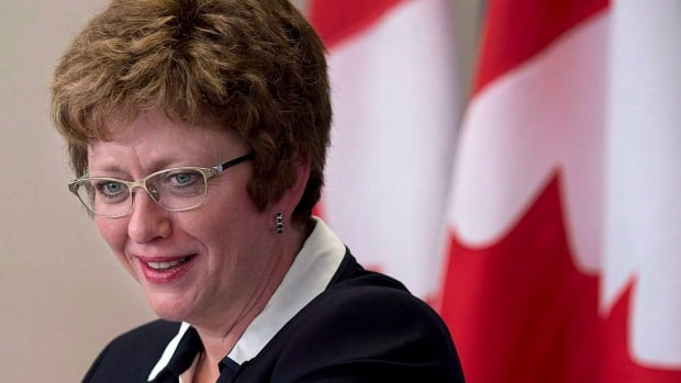 Former Public Works Minister Diane Finley, seen here in Halifax 2014, was responsible for the Phoenix project from 2013-15.