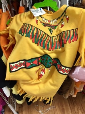 Aboriginal-themed halloween costume