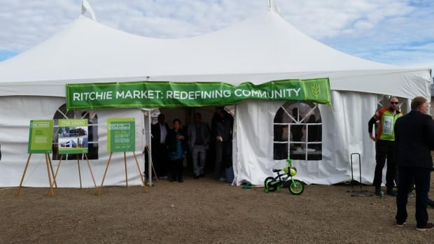An official groundbreaking for the Ritchie Market was held on Thursday morning.