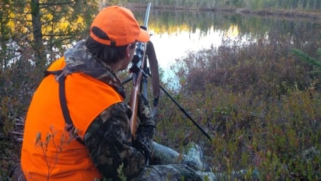 Northwestern Ontario man moose hunting