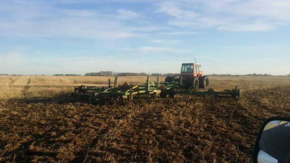 """Doing some fall field work #plant16 "" tweets Saskatchewan farmer Chris Herrnbock."