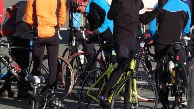 Dozens of cyclists gathered this morning to remember Loresa Makonin, who died after colliding with a propane truck on Purcells Cove Road.