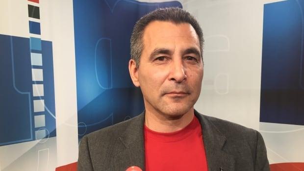 Nunavut MP Hunter Tootoo is seen at the CBC studio in Iqaluit in October 2015.