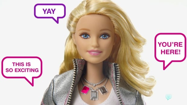 Hello Barbie can make conversation, using voice recognition technology to provide tailored responses to your child.