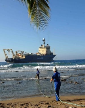 Subsea cable Cuba 2011