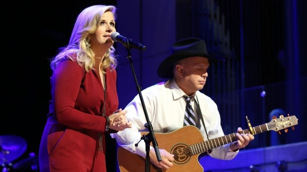 Trisha Yearwood and Garth Brooks performed at The Country Music Hall of Fame in October. They're scheduled to perform in Ottawa on April 2.