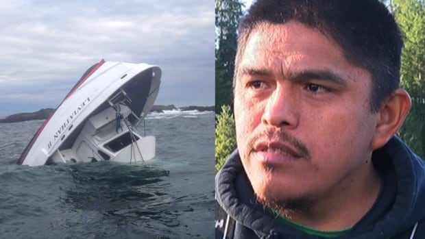 Ahousaht fisherman Ken Brown saw the single flare sent up by the crew of the MV Leviathan II after it capsized, triggering the rescue of 21 people.