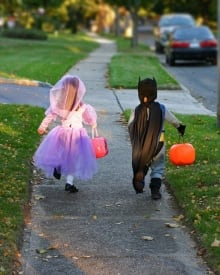 Halloween trick-or-treat children