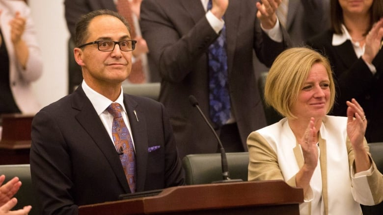 Alberta budget 2015 praise and criticism for ndp spending blueprint finance minister joe ceci centre receives a round of applause after delivering the 2015 provincial budget at the alberta legislature on tuesday malvernweather Images