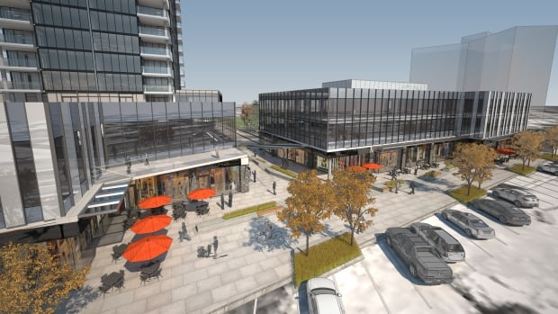 The West Block development would include a mix of residential, retail and commercial space.