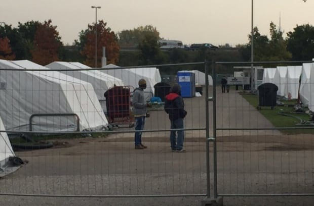 Hamburg, Germany, tent city