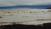 High winds on Lake Erie