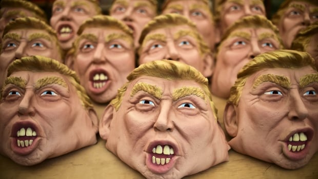 Anyone can play Donald Trump this Halloween thanks to an onslaught of masks representing the U.S. president in costume stores.