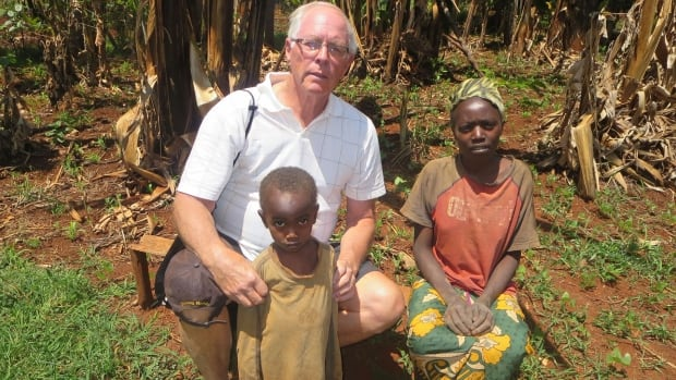 First the Kenyan children need food, says Bruce Garrity, then they need to be able to go to school.