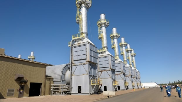 Steam generators at the Cenovus Foster Creek project in northern Alberta.