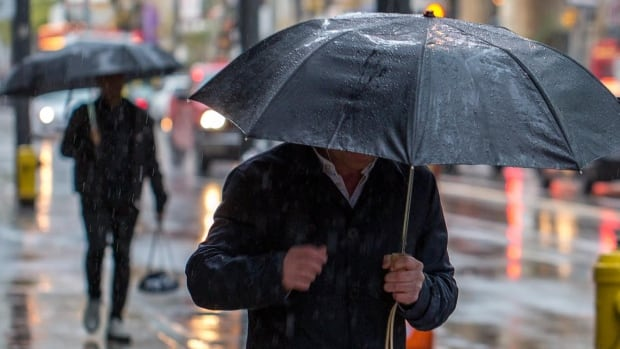 Periods of rain are expected throughout your Monday with a high of 11 C.