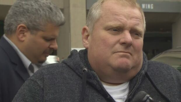 Former Toronto mayor Rob Ford