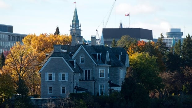 The Canadian prime ministers' residence, 24 Sussex, is seen on the banks of the Ottawa River. An environmental group is calling on prime minister-designate Justin Trudeau to take action on eco-friendly renovations.
