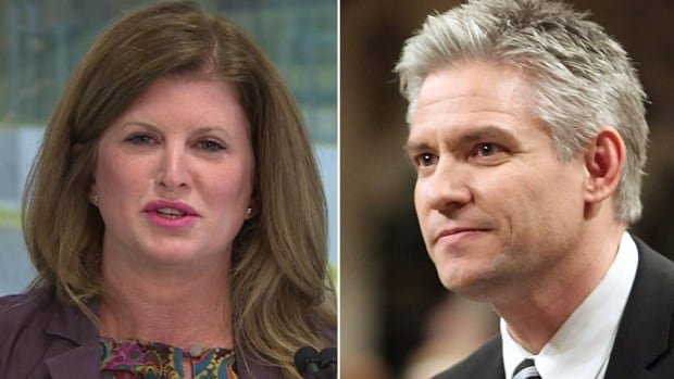 Edmonton MPs Rona Ambrose, left, and Mike Lake are the latest Conservatives to declare their intention to seek the party's interim leadership. The interim leader is expected to be selected next Thursday.