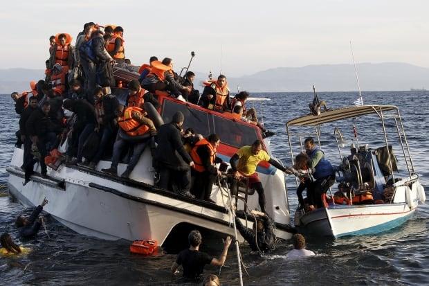 Rescue operation in the Aegean Sea
