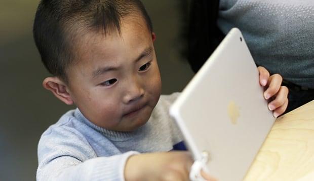 Child using iPad