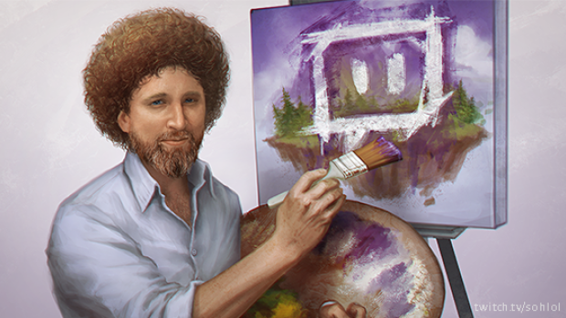 Live streaming video platform Twitch is broadcasting 'every episode of the original Bob Ross show, The Joy of Painting.' That's 403 episodes of Bob Ross that will play over the course of 8.5 days.