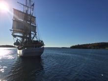45 young people from across Canada sailed a Tall Ship from Halifax, Nova Scotia to La Havre (France) in August 2017 as part of the Rendez-Vous 2017 Tall Ships Regatta, all while taking part in Msit No'Kmaq, a Sail Training and Youth Leadership Program.
