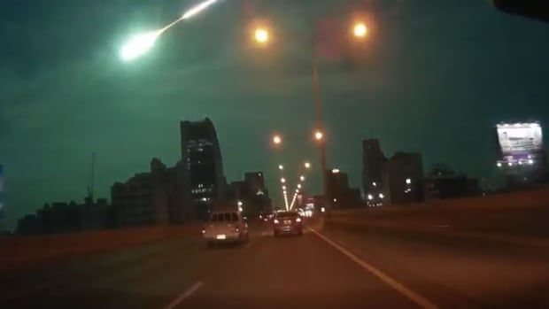 The dramatic meteor is seen in several dashcam videos captured by vehicles in Bangkok just before 9 p.m. local time (9 a.m. ET).
