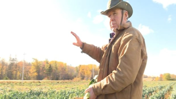 Richard Melvin of Melvin Farms in Canning says he donates thousands of kilograms of food every year, still some goes to waste.