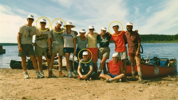 Under the bridge - 1987 group shoot