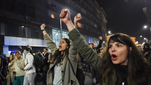 Romanians protest against the political class and Romanian authorities following a deadly fire at Colectiv nightclub in Bucharest.