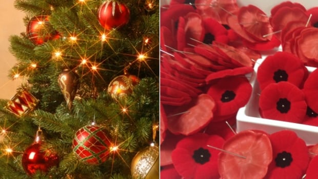 Should stores lay off on the Christmas decorations until Remembrance Day has passed?