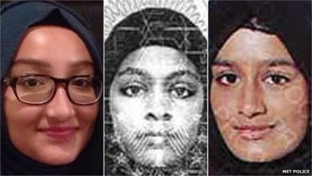 Radicalised school girls from Bethnal Green, East London