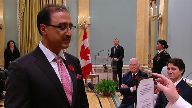 Edmonton-Millwoods MP Amarjeet Sohi is sworn in as minister of Infrastructure and Communities in a ceremony at Rideau Hall in Ottawa Wednesday morning.