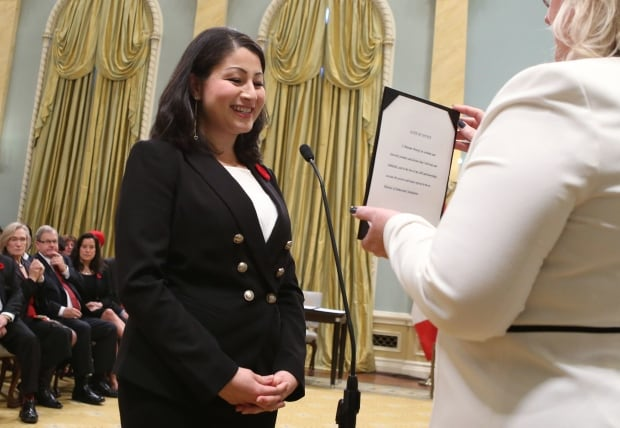 LIB MP Maryam Monsef Minister of Democratic Institutions Trudeau cabinet
