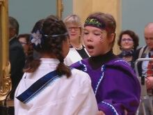 Inuit throatsingers, swearing-in ceremony