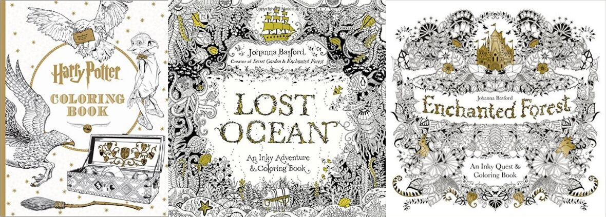 Three Adult Colouring Books Including Harry Potter And Two By Scottish Illustrator Johanna Basford Topped Amazoncas Most Wished For List This Month
