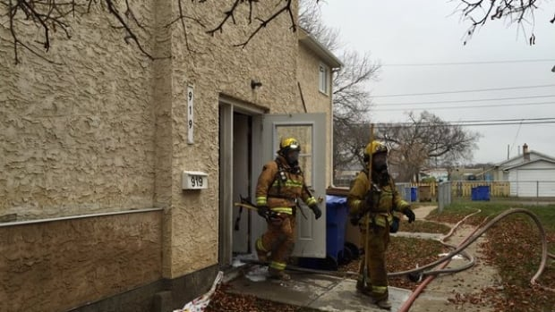 Fire crews responded to a fire at a home on the 900 Block Rae Street in Regina Thursday morning.